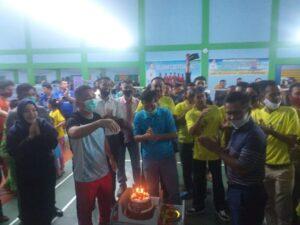 Turnamen Badminton Di GOR Garuda 99   Di Buka Lansung Oleh Ketua Dewan Provinsi Riau H.Indra Gunawan (EED)Ph.D. 2
